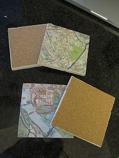 Tutorial DIY Map Coasters