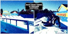Kids can go snow tubing at Legoland California during Holiday Snow Days!