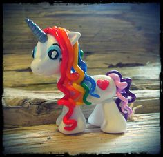 Rainbow Unicorn Ornament, Cake Topper, Decoration, Figurine, Figure (large)