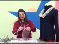 Cachecol de Puxar - Cristina Amaduro - Gola em tricô