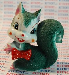 Vintage Squirrel Ceramic Figurine