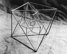 Sacred Geometry q Solid Geometry, Geometry Art, Sacred Geometry, Geometry Tattoo, Instalation Art, Geometric Sculpture, Abstract Sculpture, Platonic Solid, Math Art