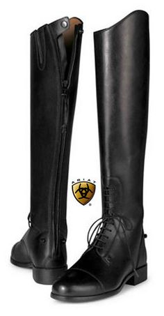 NEW ARIAT WOMENS BLACK ENGLISH RIDING HERITAGE SELECT FIELD BOOTS WITH ZIP #Ariat #RidingEquestrian