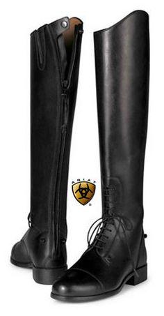 Quiero llevar estas botas para de montar a caballo. Me gusta estas botas porque ellas son altas.