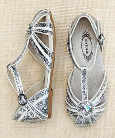 5eda5454593241 Another great find on  zulily! White  amp  Silver Hazel Closed-Toe Sandal