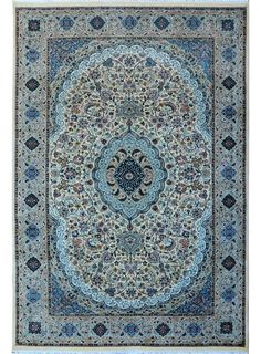 "Ivory Oriental Isfahan Rug 6' 1"" x 9' 1"" (ft) - No. 10486  http://alrug.com/beige-oriental-kirman-rug-6-1-x-9-1-ft-no-10486.html"