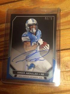 Ameer Abdullah Autograph 2015 Topps NFLPA Rookie Primiere, # 35/75 Lions  #DetroitLions