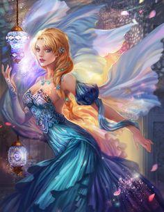 ❄ A MidWinter's Night's Dream ❄... Elsa... By Artist Jiuge on DeviantART...