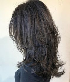 60 Lovely Long Shag Haircuts for Effortless Stylish Looks Long Cut With Flipped Up Ends Long Shag Hairstyles, Haircuts Straight Hair, Long Shag Haircut, Haircuts For Medium Hair, Long Hair Cuts, Medium Hair Styles, Short Hair Styles, Cut My Hair, Thin Hair