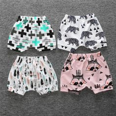 Baby Girls Boys Shorts Pocket Clothes Set 0-4T Toddler Kids Newborn Baby Summer Briefs Short Pants Soft Trousers