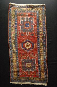 Antique heriz tapis ca:180x90cm tappeto carpet teppich collectorpiece!!! | eBay