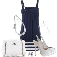 navy, created by fluffof5 on Polyvore