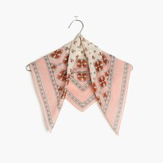 """We teamed up with Claire Lampert and Stacy Daily of cult-favorite online shop Where I Was From on a limited-edition collection of modern closet essentials with a throwback vibe. The inspiration? Think traveling to a New Mexico lavender farm with a suitcase of vintage scores. Case in point, this versatile bandana inspired by the hand-painted tiles of the Southwest. <ul><li>Cotton.</li><li>21 5/8""""L x 21 5/8""""W.</li><li>Hand wash...."""