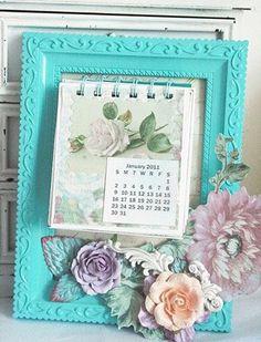 marco con calendario