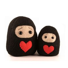 Will You Be My Valentine Ninja Mushie, a mini plushie