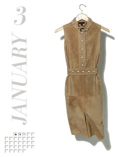 Back to work but with directional style: a suede sheath to layer over silk knits and sleek tights.  Belstaff Evesham dress in Champagne luxe suede, $3,200Belstaff, NYC, 212.897.1880