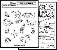 land vs water animals water animals kinder science and math patterns. Black Bedroom Furniture Sets. Home Design Ideas