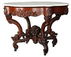 "John Henry Belter ""Rosalie"" rosewood marble-top table"