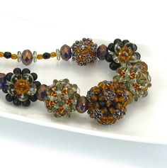 Jewelry Sample Embellished Plum Blossom Necklace by 1beadweaver