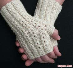 Ravelry: BonBons pattern by Susanna IC, Free Fingering wpi) ? Gauge 15 stitches and 20 rows = 2 inches in ribbing Needle size US 5 - mm Yardage: 150 - 175 yards - 160 m)Knitting Patterns Gloves One Skein Idea: BonBons by Susanna IC - knit fingerless glove Fingerless Gloves Knitted, Knit Mittens, Cable Knitting, Knitting Needles, Bracelet Crochet, Knitting Patterns Free, Crochet Patterns, Free Pattern, Knitting Accessories