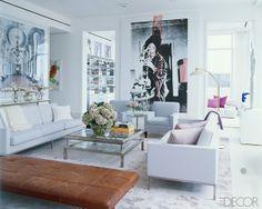 Elle Decor. Love the color palette.