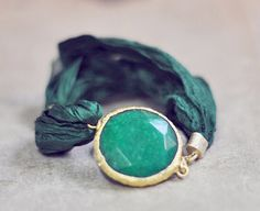 fashion jewelry unique bold emerald green simple by YUNILIsmiles