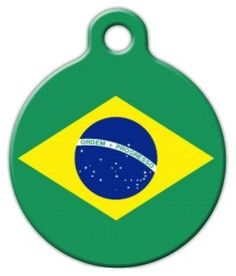 Brazil Flag - Custom Pet ID Tag for Dogs and Cats - Dog Tag Art * New and awesome dog product awaits you, Read it now  : Dog tags for pets