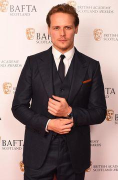 Sam looking sharp at the Scottish Baftas