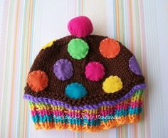 CHOCOLATE ICING CONFETTI  Cupcake HatNewborn by NinisHandmades, $25.00
