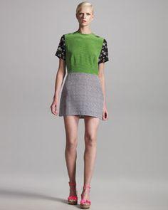 Mixed print silk dress by Stella McCartney