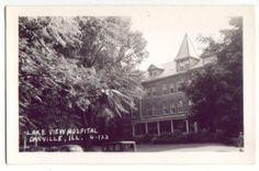 Danville, IL - Lake View Hospital - RPPC Postcard.