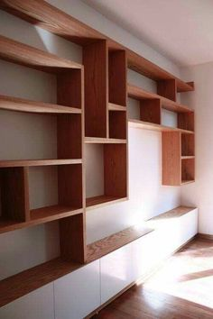 61 Ideas Storage Room Wall Built Ins in Wardrobe organization Bookcase Wall, Bookshelf Design, Room Shelves, Bookcases, Built In Wall Shelves, Wall Shelving, Wall Shelves Design, Living Room Storage, Living Room Tv