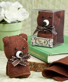 fun and practical bear towel favour
