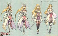 Concept art for Hyrule Warriors. Queen Zelda.