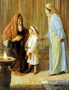"""Hannah, Samuel, and Eli: Then they slaughtered the bull, and they brought the child to Eli. And she said, """"Oh, my lord! As you live, my lord, I am the woman who was standing here in your presence, praying to the LORD. For this child I prayed, and the LORD has granted me my petition that I made to him. Therefore I have lent him to the LORD. As long as he lives, he is lent to the LORD.""""And he worshiped the LORD there. -1 Samuel 1:25-28(ESV)"""