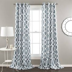 Shop for Lush Decor Edward Moroccan Pattern Room Darkening Curtain Panel Pair. Get free delivery at Overstock - Your Online Home Decor Outlet Store! Get in rewards with Club O! Thermal Curtains, Grommet Curtains, Blackout Curtains, Drapes Curtains, Moroccan Curtains, White Curtains, Pattern Curtains, Modern Curtains, Contemporary Curtains