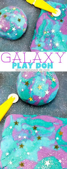 Stuck indoors on a rainy evening? Plan a space night with the help of this Galaxy Play Doh recipe and keep kids busy for hours! Outer Space Activities for Kids Space Activities For Kids, Craft Activities, Toddler Activities, Summer Activities, Outer Space Crafts For Kids, School Age Activities, Space Kids, Toddler Games, Birthday Activities