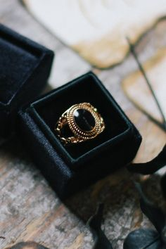 wedding ring from pumpkin styled shoot http://www.trendybride.net/pumpkin-gold-black-styled-shoot/