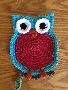Free Owl Coaster Pattern (o▼o) by Bonna Chaplain