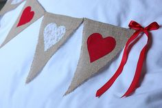 Valentine's Day or Wedding Day bunting