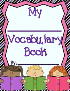 Student Vocabulary Books - Fits Any Subject Matter http://www.teacherspayteachers.com/Store/MadForKinder