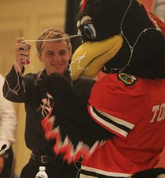 Two kids playing together I guess. LOL. | Patrick Kane and Tommyhawk