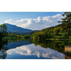 #nature #natureart #lake #water_captures #water_brilliance #reflections #ig_reflections #insta_sky_reflection #jr_lovereflection #clouds #sky_brilliance #travel #croatia #crostagram #putopis #croatia_photography by kvajo.kvajo
