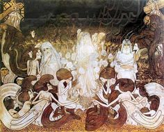 Toorop, De drie bruiden, 78x98 non bruid helbruid - Category:The Three Brides by Jan Toorop — Wikimedia Commons