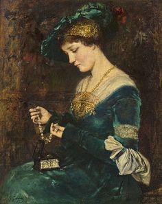 Gustave Jean Jacquet La casque de bijoux