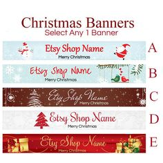 Christmas Etsy Banners  Shop Banners  Selections 5 by RhondaJai