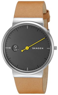 Skagen Men's SKW6194 Anchor Analog Display Analog Quartz Brown Watch