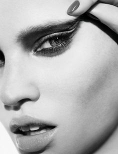 #beauty # black and white # lashes # lips # makeup # skin