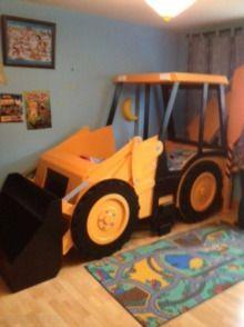 JCB Halo, Single digger Bedding for boys bedroom   Reagan's ...