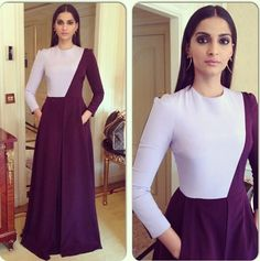 Sonam Kapoor Meet this week's best dressed celebrities Sonam Kapoor in Anamika Khanna: Sonam wore a stunning Anamika Khanna ensemble at the store launch of Bvlgari in New Delhi. Dress Indian Style, Indian Dresses, Indian Outfits, Sonam Kapoor, Indian Designer Outfits, Designer Dresses, Stylish Dresses, Fashion Dresses, Long Dresses